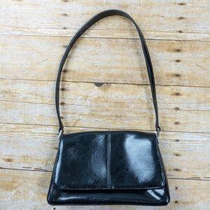 Liz Claiborne Polyvinyl Shoulder Bag Black
